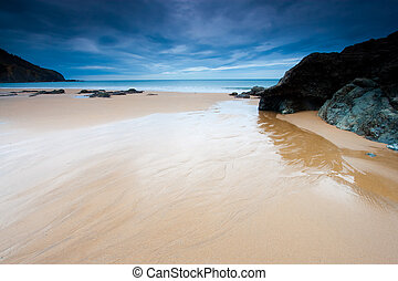 Beach of Bakio in Bizkaia, Spain