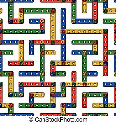 Constructor labyrinth 1 - Colorful labyrinth seamless vector...