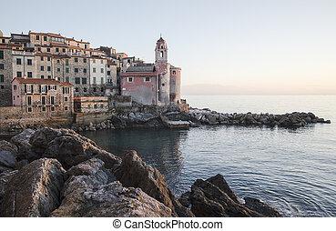 Tellaro sea village in Italy at Lerici