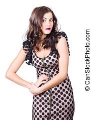 Elegant high fashion model in autumn clothes - Elegant high...