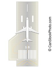 Runway Top view Vector illustration EPS 10, opacity