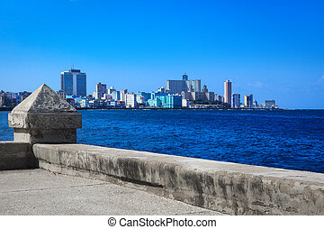 views of the modern Havana - promenade with views of the...
