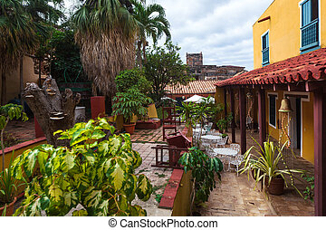 beautiful old patio