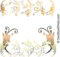 floral background  - floral design on white background