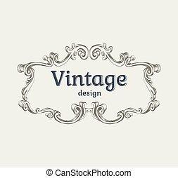 Vintage frame template Vector Illustration Template