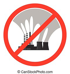 Stop air pollution sign Vector illustration - Stop air...