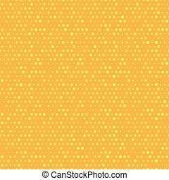 Orange and yellow dotted vector seamless pattern.