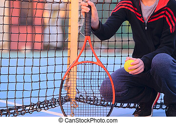 tennis-player - The image of a tennis-player