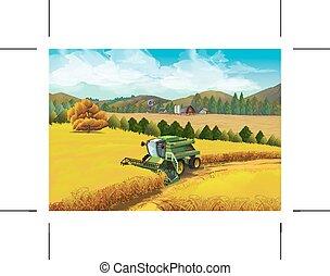 Farm rural landscape