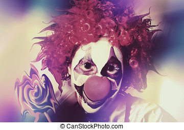 Droopy the clown with mind bending magic - Crazy psychedelic...