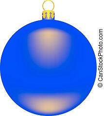 vector image Christmas-tree toy - a blue ball