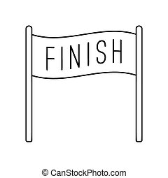Vector Illustration of finish white banner isolated over ...
