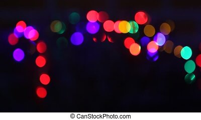 christmas lights background - defocused christmas lights...