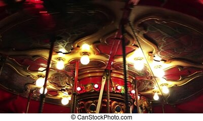 Carousel in Amusement Park in Fun Fair Merry Go Round