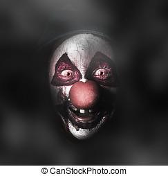 assustador, Mal, rosto,  joker, Palhaço, escuro, sorrizo