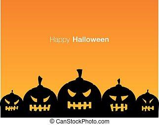 Happy Halloween holiday card display design