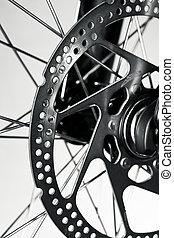 Bicycle disk brake - Disc brake rotor on a mountain bike...