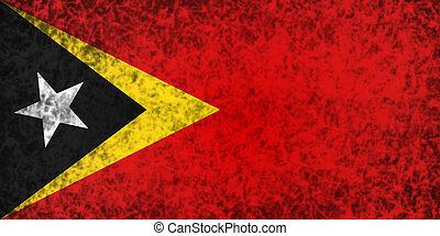 Flag of East Timor - Flag of East Timor in grunge style