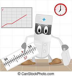 The doctor and thermometer