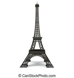 Eiffel tower isolated on white Computer graphics