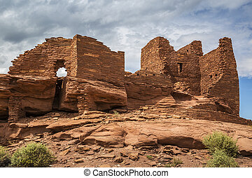 Wukoki Pueblo Ruin - Wukoki pueblo ruin in Wupatki National...
