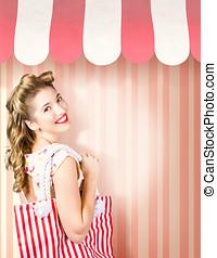 Beauty and fashion woman shopping at salon store - Beauty...