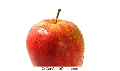 red apple, rotates