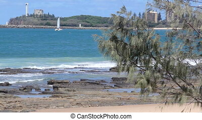 Mooloolaba 10 - The view from Mooloolaba beach looking...