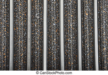 Spotted metallic background - Black spotted textured...
