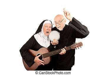 Angry musical priest and nun