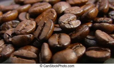 coffee beans, rotate, macro
