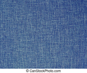 Texture of a blue woven synthetic fabric background
