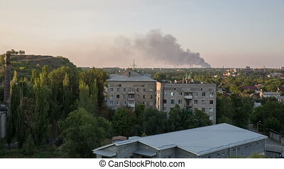 War in the Town - result of the military conflict in Donetsk