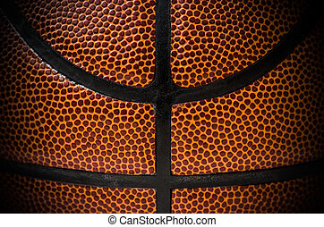 close up of a basketball ball