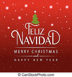 Hand sketched Feliz Navidad (Nappy New Year In spanish)...