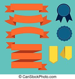 Ribbon set, flat design