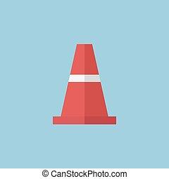 traffic cone icon, vector