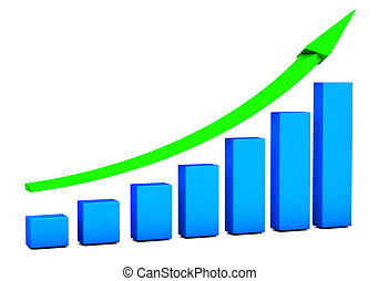 Business Growth Chart - Business growth Chart bars on a...
