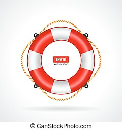 Life ring vector icon on white background