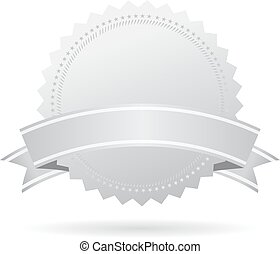 Blank silver medal with ribbon