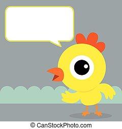Chicken bubble talk