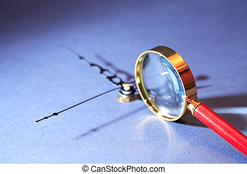 Magnifying Glass And Clock