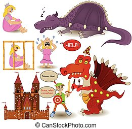 Fairy tale collection. - Collection of different characters...