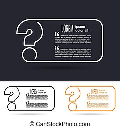 Creative question mark icon FAQ sign vector illustration