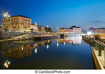Milan new Darsena, docks area - Milan new Darsena,...