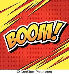 Boom! - Comic Speech Bubble