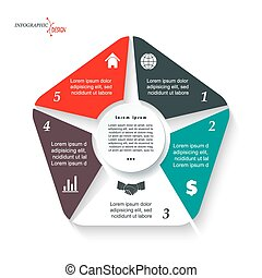 Infographic template for business project or presentation...