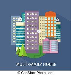 Multi-Family House Design Flat - Multi-family house design...
