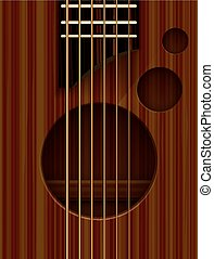 Acoustic guitar abstract