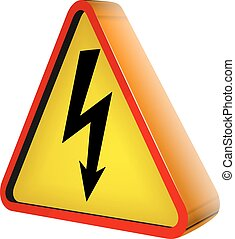 sign electricity - exclamation mark abstract vector...
